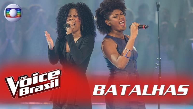 Шоу «Голос» Бразилия 2016-2017. - Кассия Марвила и Милена Жардим с песней «Твой блюз добивает меня нежно». —