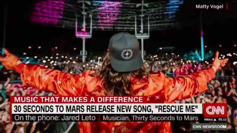 Steve Johnston в Твиттере Jared Leto talks with @CyrilCNN about his new song and how he hopes to help people battling depressio