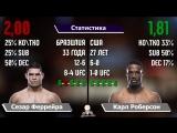 Коэффициенты и Статистика на UFC 224 - Аманда Нунес, Роналдо Соуза, Келвин Гастелум, Витор Белфорт.mp4