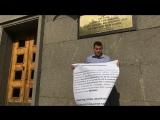 Пикет перед ГУ МВД по незаконной торговле 26.07.2018