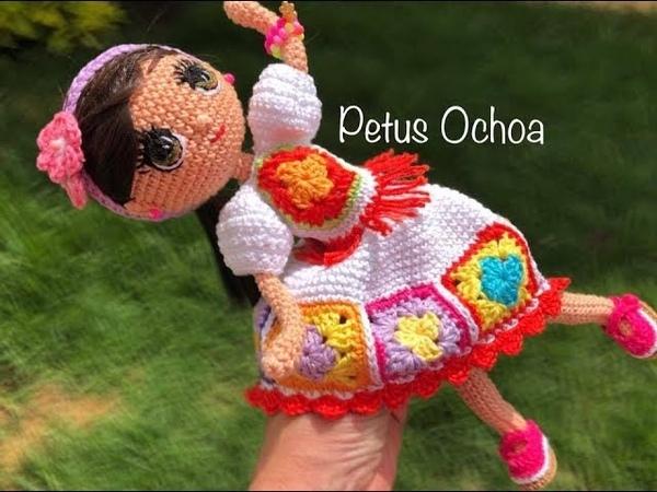 Teje en crochet vestuario muñeca Stefania amigurumis by Petus 2a parte English subtitles