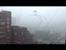 Ливень в Новосибирске совпал с испытаниями системы оповещения, а если туда добавить Трипода, то выглядит ужасающе.
