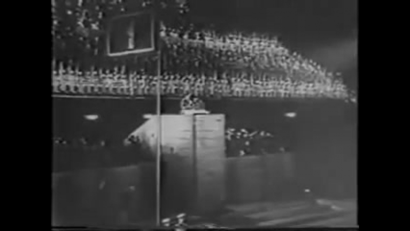 Benito Mussolini 1937 speaking in German