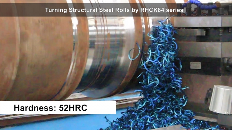 Turning Structural Steel Rolls by RHCK84 series