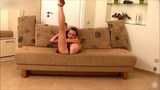Contortion Sexy yoga  girl how it becomes flexible