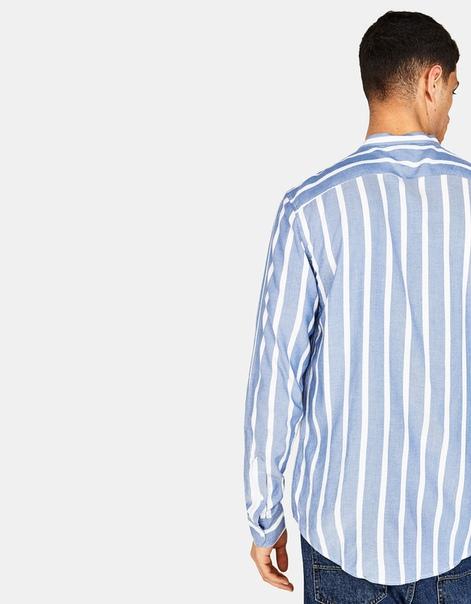 Рубашка с воротником-стойкой