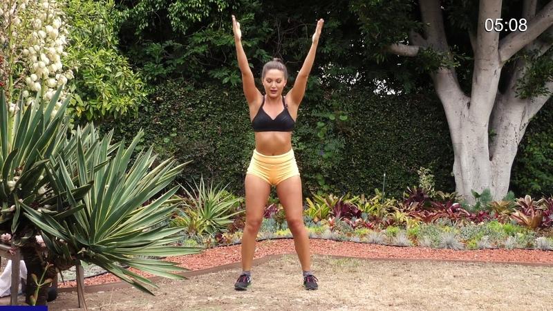 10-минутная тренировка ягодиц и бедер с гантелями - Вариации плиометрический приседов. 10-Min Butt and Thighs Workout W Weights - Variations of Plyo Squats