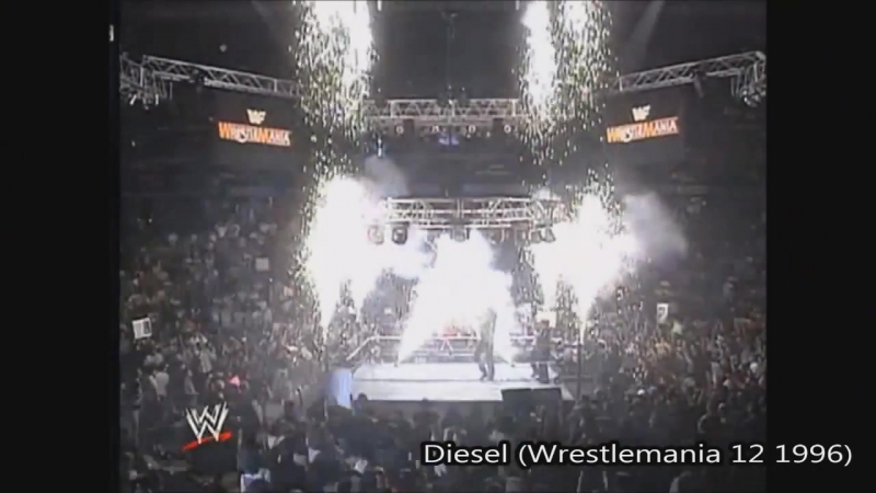 Wrestling entrances with pyrotechnics. PT1