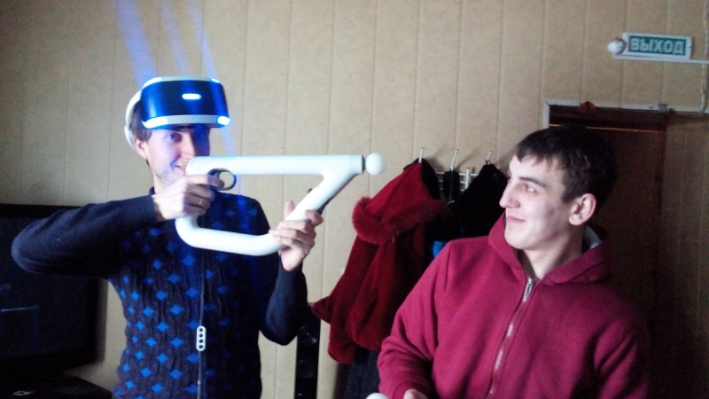 Виртуальные очки игра Комната страха