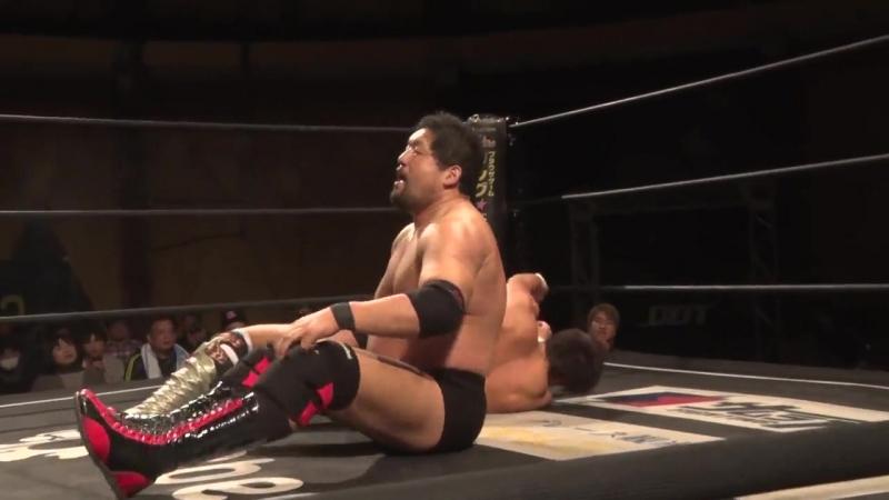 Konosuke Takeshita, Akito, Shunma Katsumata vs. Daisuke Sasaki, Shuji Ishikawa, Tetsuya Endo (DDT - Taisho Dramatic Romantic)