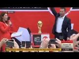 Кубок чемпионата мира по футболу прибыл в Москву