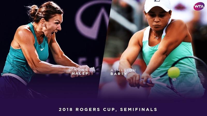 Simona Halep vs. Ashleigh Barty | 2018 Rogers Cup Semifinals | WTA Highlights