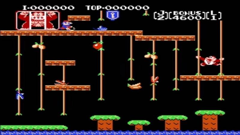 Donkey Kong Jr NES - Прохождение (Донки Конг Младший Денди, Dendy - Walkthrough)