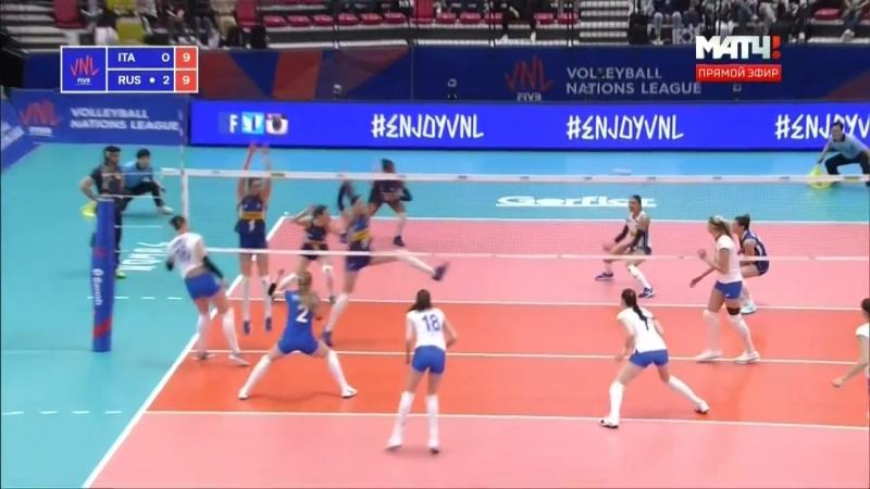 22.05.2018. Волейбол. Лига наций. Женщины. 4 тур. Группа 1. Италия - Россия