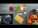 Рецепт за 90 секунд - Спагетти с томатами черри, сыром и базиликом