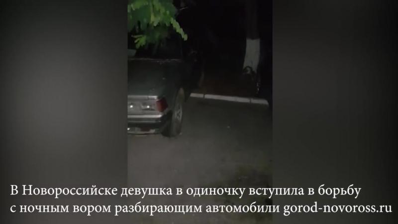 В Новороссийске девушка вступила в борьбу с ночным вором