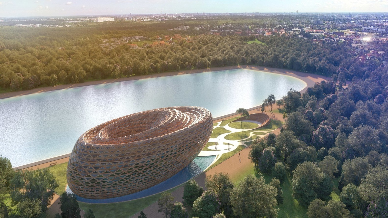 Competition Entry Imagines Dynamic Library Design for London's Hyde Park