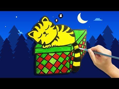 Piccola TIGRE che dorme 🐯 Disegno per bambini 🐅Impara i colori in Inglese