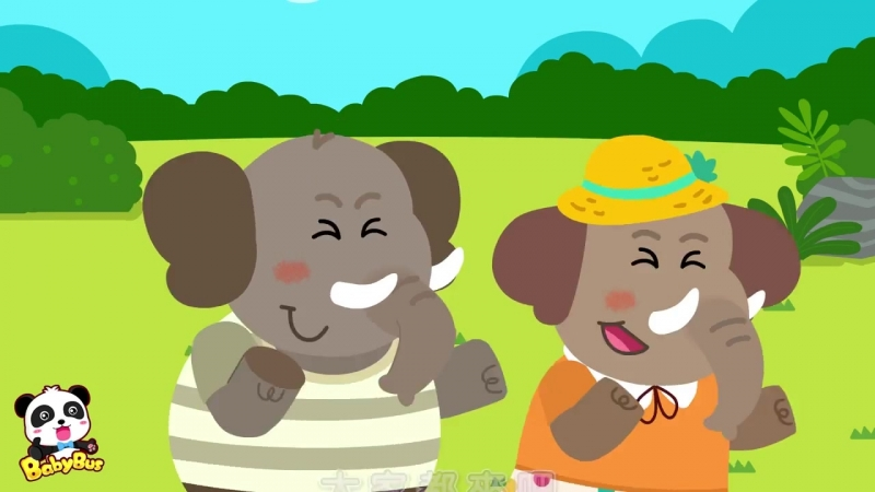 ❤ 跟大象一起跳舞 動物兒歌 兒童歌曲 幼兒音樂 童謠串燒 寶寶巴士