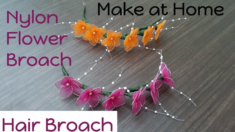 Tutorial 22 Easy Nylon Flowers Hair Broach | Make at Home | creative craft art