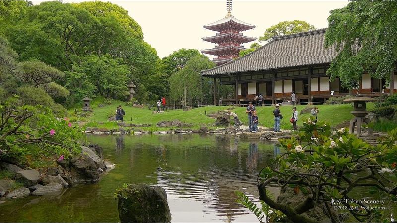 4K 伝法院庭園 浅草 Denbo-in Garden Asakusa Tokyo JAPAN