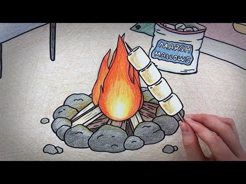 여름캠핑 바베큐 스톱모션!! (마쉬멜로우)(Barbecue, marshmallow stop motion) :: 셀프어쿠스틱