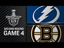 NHL 18 PS4. 2018 STANLEY CUP PLAYOFFS SECOND ROUND GAME 4: EAST LIGHTNING VS BRUINS. 05.04.2018. (NBCSN) !