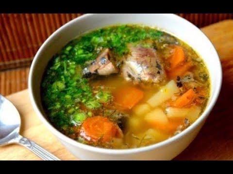 Уха из сардинВкусный суп с консервами сардина в масле с рисом