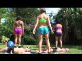 Brianna Beach - Goddessfootdomination.Com - Goddess Alexis Rain Goddess Bella Reese Workout Class For Goddesses