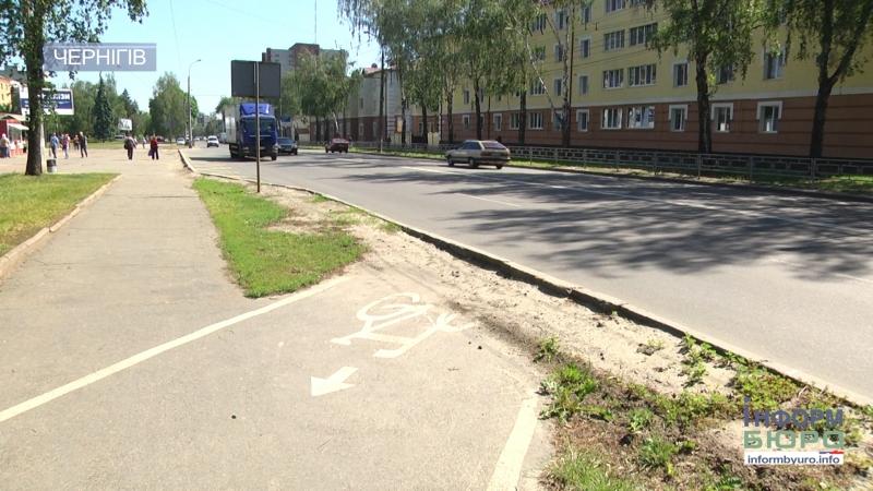 Патрульна поліція розкритикувала нові велодоріжки у Чернігові
