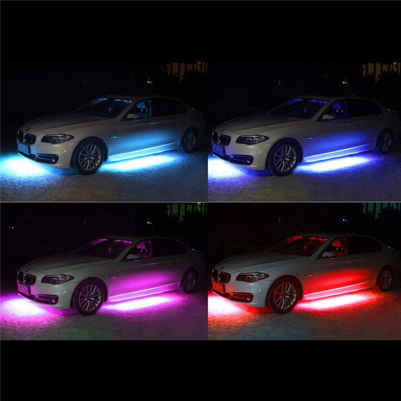 А теперь неоновая подсветка под машину