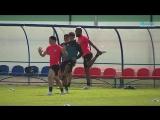 Сборная Коста-Рики потренировалась на стадионе в Павловске