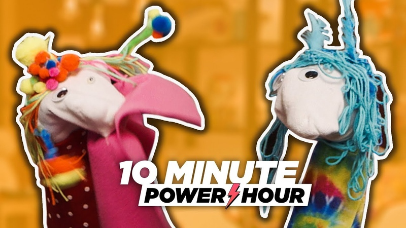 The Great Glittery Sock Puppet Palooza (ft. Matt) - 10 Minute Power Hour