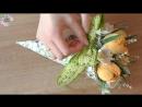 БУКЕТ из КОНФЕТ в кулечке _ Красивые тюльпаны из бумаги _ Алина Романовна