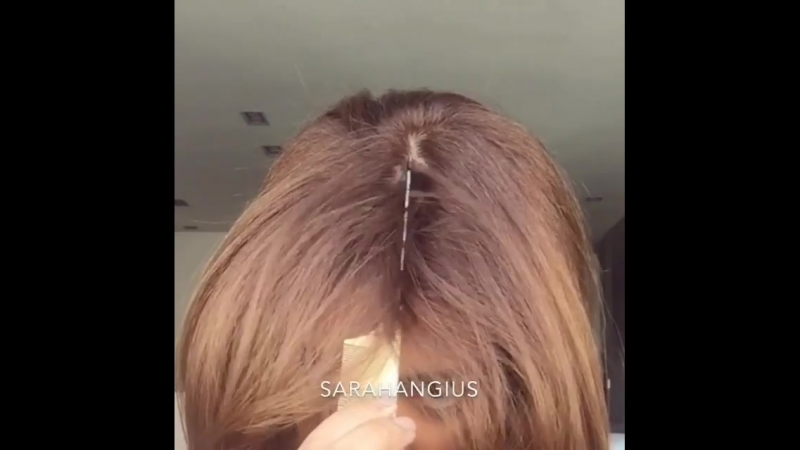Классный пробор замаскирует не свежие волосы!