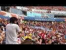 Болельщики Перу зажигают на стадионе Фишт
