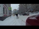 По центру Москвы на лыжах!
