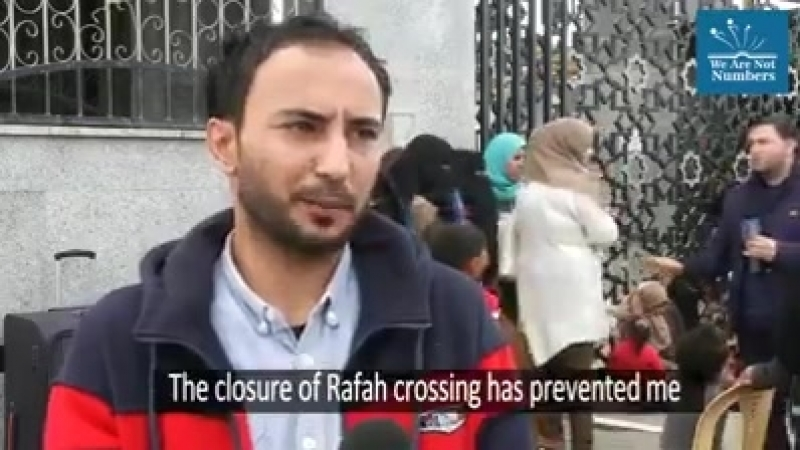 Gaza Une prison à ciel ouvert Le passage de Rafah le seul qui permette aux gazaoui de sortir via l Égypte, que ce soit pour rai