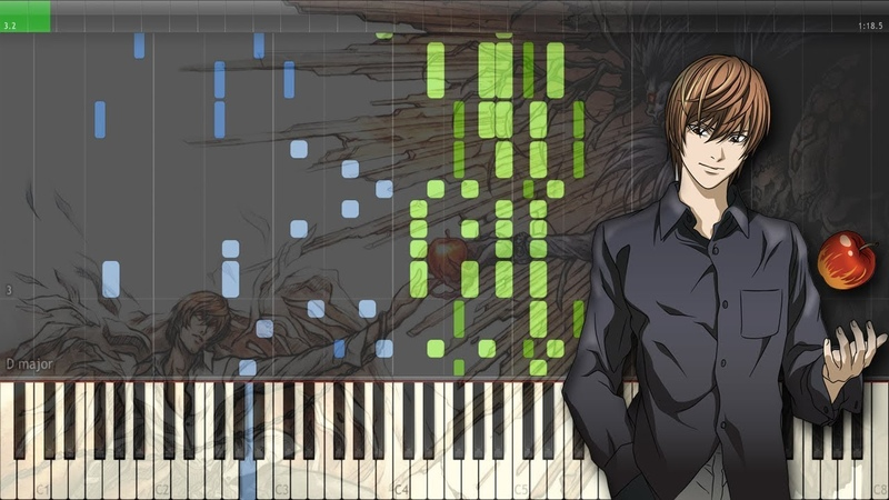 The World - Death Note Opening 1   デスノート OP 1 [Piano Tutorial Midi   Sheet]