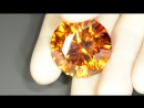 Faceted gem sphalerite, 163.25 ct
