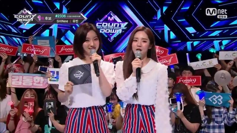 180621 Fromis_9 Jiwon Saerom @ MC special M!countdown