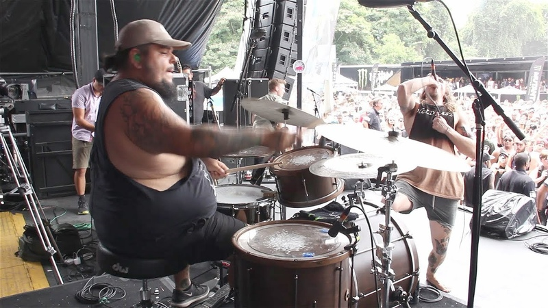 Silent Planet - Panic Room [Alex Camarena] Drum Cam (Van's Warped Tour 2017) Atlanta, GA