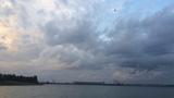 Вечер Обское водохранилище Новосибирск. Закат солнца.