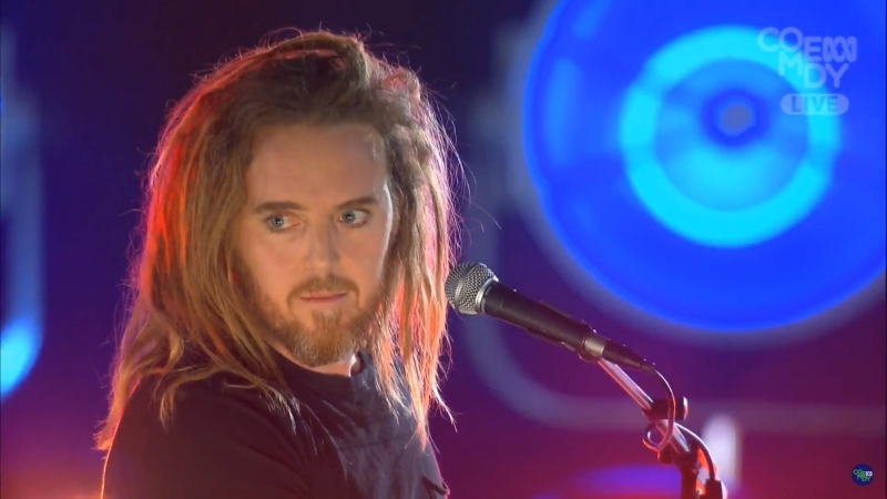 Tim Minchin at the Tropfest 2018 performing songs Rock'n'roll Nerd and Prejudice