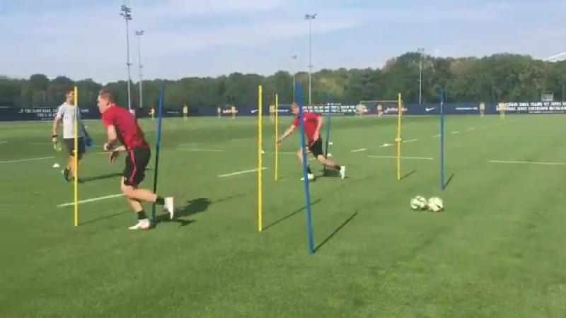 Timo Werner und Marcel Halstenberg trainieren individuell. - - RBL @timowerner