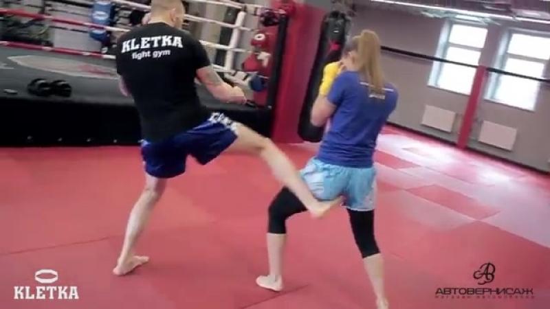 Лоу-кик в Тайском Боксе (Муай Тай), техника разрыва дистанции от Андрея Басынина