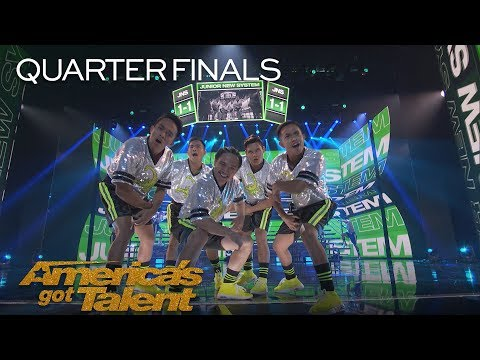 Junior New System: Men In High Heels Deliver High Energy Dance - America's Got Talent 2018