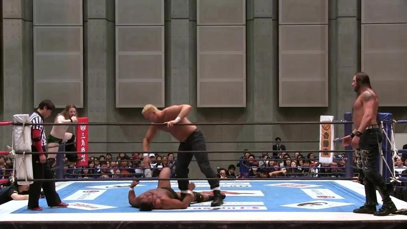 My1] НЖПВ: Ворлд Тэг. Блок Б - David Finlay Katsuya Kitamura vs. Killer Elite Squad