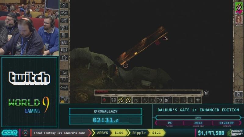 Baldur's Gate 2 Enhanced Edition by KowalLazy in 24 31 AGDQ 2018 Part 147