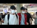 180806 BTS Airport arrival video The article said they had special class security today